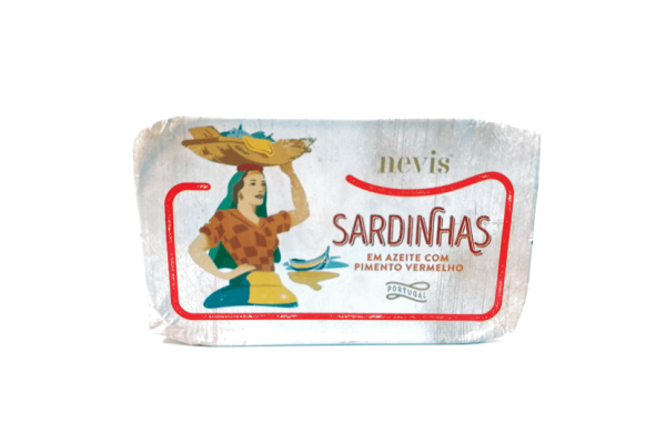 Sardines in olive oil with red pepper