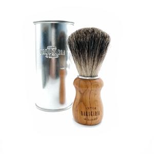 Pincel de barbear, com pelo de texugo
