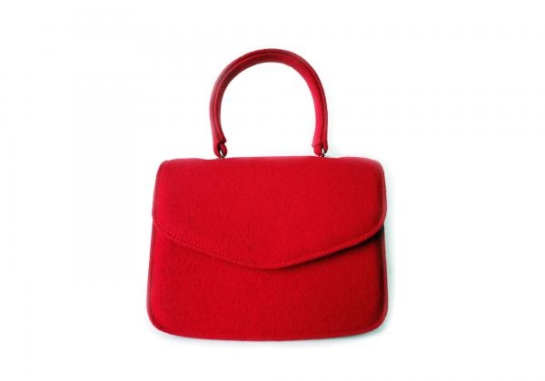 Red Burel bag