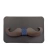 Wood tie mustache