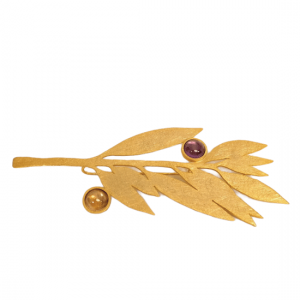 bronze leaf brooch