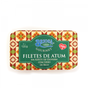 Filetes de atum com grão de bico